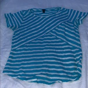 J. Crew Top, Light Blue and White Stripes